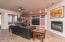 The family room is oversized compared to others of this same floorplan. Great access and view of back yard!
