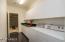 Laundry room towards garage