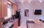 Large Kitchen with Stainless Appliances and center island bar