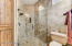Large shower with natural light.