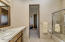 Guests enjoy their full bath area separated from living space and bedroom.