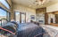 Your master suite with gas fireplace and views