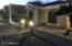Sunset view of front patio