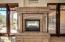 Two way Cantera fireplace Master bedroom