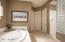 Relax in the large soaking tub.