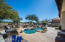 Backyard is an entertainers delight offering pool, waterfall, gorgeous views, and built in BBQ.