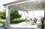Patio and fruit trees