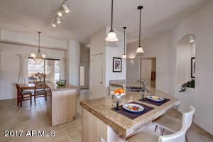 Entertaining is a delight in this central kitchen. Great flow for large gatherings or intimate dinners.