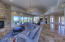 Great Room with Black Mountain Views overlooking pool/spa