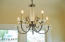Breakfast nook chandelier