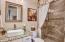 Beautiful guest bath with custom shower!