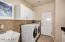 Laundry sink and plenty of extra storage!