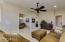 Upgraded ceiling fans and fixtures throughout.