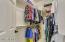 Large master closet .