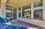 Large slider with paver back porch.