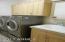 LG Washer Dryer, Cabinets, Sink, Mirror Cabinet
