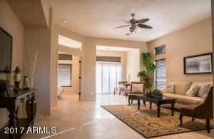 Great Room with Office Nook and Patio Access
