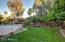 Grass area & In-ground Trampoline