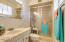 Master bath with a double shower