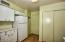 Pantry closet and entrance to garage from kitchen!