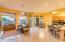Light, bright and spacious Family Room/Kitchen area