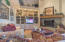 Family room, built in entertainment center and fireplace