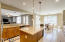 Kitchen with island and granite counter tops