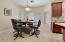 Dining area off Kitchen - can easily accommodate a table for 6 - 8