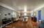Wood floors in large living room