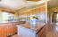 Granite countertops and a multitude of counter space