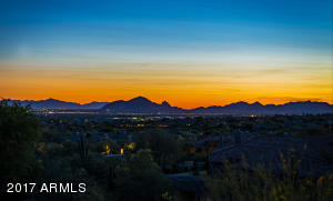 Iconic Camelback and city light views