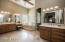 Master Bathroom features his and hers separate vanities