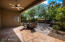 Back Yard flagstone patio leads you out to this serene setting. Large mesquite tree provides ample shading