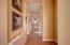 Elongated Hallway to the Master Bedroom Bath Area