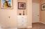 Built-in Storage in Master Bedroom Hallway to Bath Area