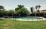 With water features - big pool with mesh fence