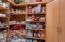 Very large walk-in pantry