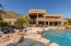 View of the home from the other side of the pool