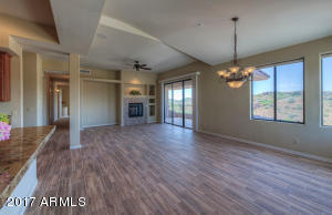 Great Room with New Wood-Look Tile Flooring