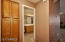 Linen Cabinets just outside of Guest Bath.