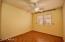 Nice wood laminate flooring in three bedrooms.