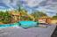 Enjoy the Sparkling pepple tech pool & gazebo in this back yard oasis.
