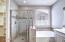 Lovely tiled walk-in shower