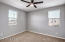 3 bedrooms upstairs with ceiling fan. All upstairs bedrooms have walk-in closets which your kids will love.
