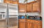 staggered set kitchen cabinets