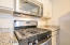 Beautiful stainless steel gas oven/range and microwave set