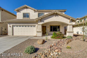 Front view of beautiful 5/3 home in Maricopa