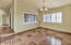 nice formal dining room to left of entryway with nice scenic views.
