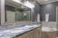 DUAL MASTER BATH SINKS, MARBLE COUNTER-TOPS