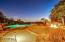 Patio & pool view at sunset